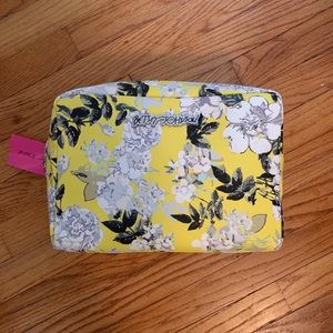 NWT BETSEY JOHNSON Floral Wristlet Cosmetic Bag